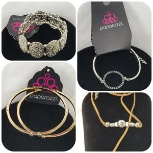 Paparazzi Bracelet Bundle, 4 New Bracelets